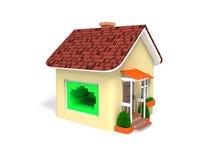 A casa é conectada ao Internet Imagem de Stock Royalty Free