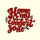 A casa é minha zona de conforto Foto de Stock