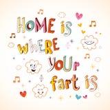 A casa é o lugar onde seu fart está ilustração do vetor