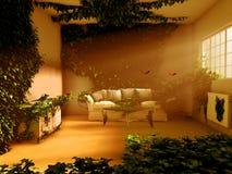 A casa é paraíso Foto de Stock