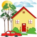 Casa ilustração stock