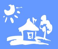 Casa ilustração do vetor