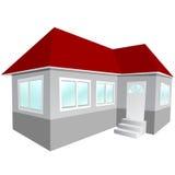 casa 3d Foto de archivo libre de regalías