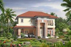 casa 3d Immagine Stock