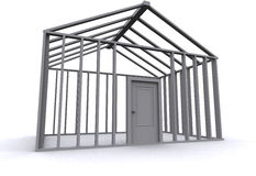 casa 3D Imagen de archivo