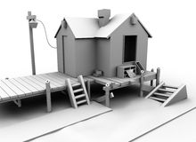 casa 3D Imagen de archivo libre de regalías