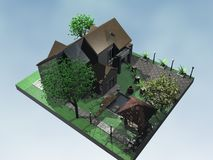 casa 3D foto de stock royalty free