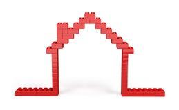 casa 3d dei blocchi di plastica Fotografia Stock