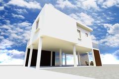 casa 3d moderna rendida Ilustração do Vetor