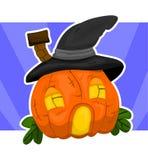 Casa-abóbora de Halloween Imagem de Stock