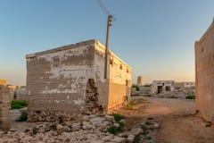 Casa abandonada, Al Jazirah Al Hamra, Ras Al Khaimah imagens de stock