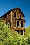 Casa abandonada cidade fantasma em uma mina de ouro. Fotografia de Stock