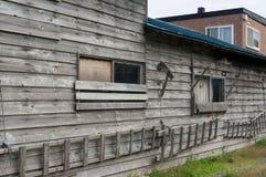 Casa abandonada do armazenamento Imagem de Stock Royalty Free