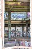Casa abandonada do poder: Vista completamente Foto de Stock Royalty Free