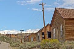 Casa abandonada en el pueblo fantasma de la minería aurífera de Bodie, Californ Fotos de archivo libres de regalías