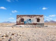 Casa abandonada en Fuerteventura Fotos de archivo