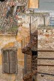Casa abandonada en Grecia Foto de archivo libre de regalías