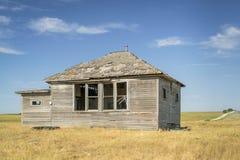 Casa abandonada en Nebraska rural Fotos de archivo libres de regalías