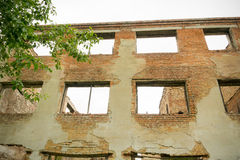 Casa abandonada Grunge fotos de archivo