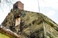Casa abandonada quemada en Clay Creek blanco Fotografía de archivo libre de regalías
