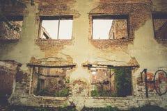 Casa abandonada retra foto de archivo libre de regalías