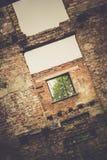 Casa abandonada retra foto de archivo