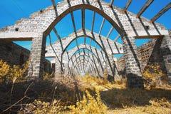Casa abandonada sem telhado fotos de stock royalty free