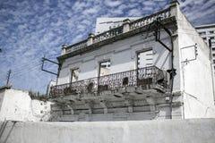 Casa abandonada sin el tejado y las ventanas Fotos de archivo libres de regalías