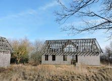 Casa abandonada vieja imagen de archivo