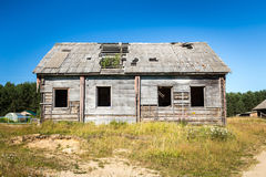 Casa abandonada vieja de la granja Fotografía de archivo