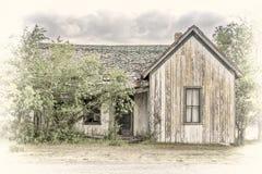 Casa abandonada vieja en un pueblo fantasma Fotos de archivo libres de regalías
