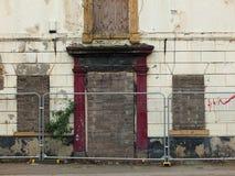 Casa abbandonata abbandonato sulla via Fotografia Stock Libera da Diritti