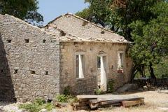 Casa abbandonata a Corfù Fotografia Stock Libera da Diritti