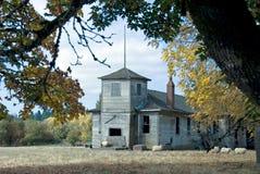 Casa abbandonata del banco Fotografia Stock Libera da Diritti