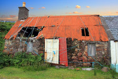 Casa abbandonata del croft Fotografia Stock
