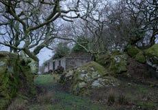 Casa abbandonata del traghetto sul Bute immagine stock