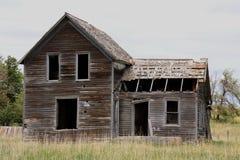 Casa abbandonata dell'azienda agricola nel midwest Fotografia Stock