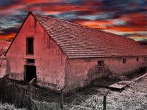 Casa abbandonata spaventosa Immagine Stock