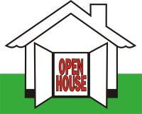 Casa aberta ilustração royalty free