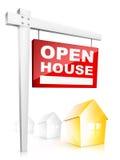 Casa abierta ilustración del vector