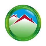 Casa abstrata do logotipo na esfera Imagem de Stock