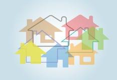 A casa abstrata Home dá forma ao fundo das casas Fotos de Stock Royalty Free