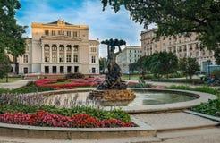 Casa accademica nazionale lettone del teatro di balletto e di opera a Riga Fotografia Stock Libera da Diritti