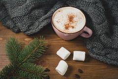 Casa accogliente di inverno Fotografie Stock