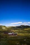 Casa ad alta altitudine norvegese Fotografia Stock Libera da Diritti