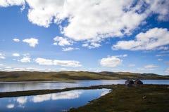 Casa ad alta altitudine norvegese Fotografie Stock