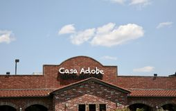 Casa Adobe Mexican Restaurant, Jackson TN. Casa Adobe serves the finest Mexican food in Jackson, Tennessee Royalty Free Stock Image