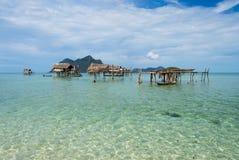 Casa afetado na ilha Sabah Borneo de Maiga Imagem de Stock
