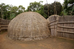 Casa africana tipica Fotografia Stock Libera da Diritti