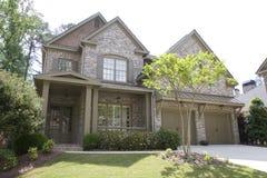 Casa agradável do tijolo no branco Imagens de Stock